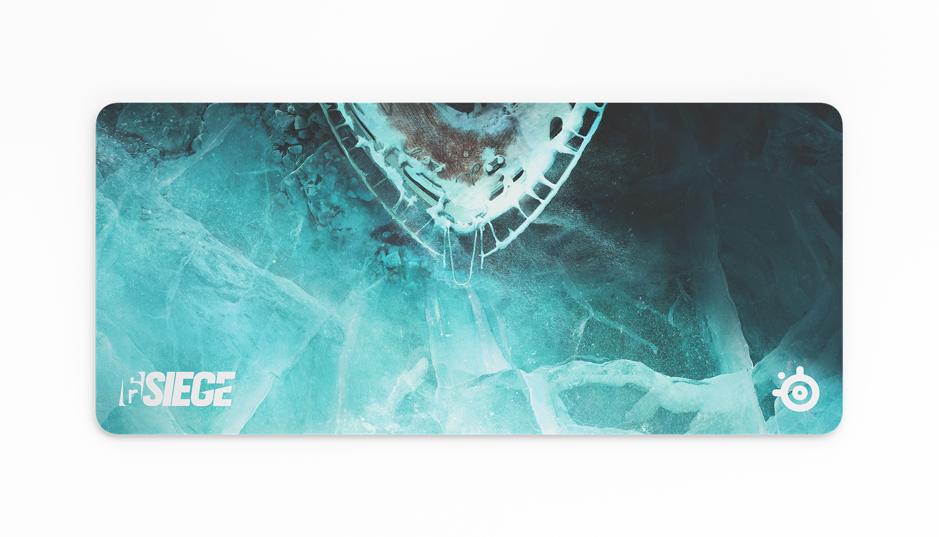 QcK Black Ice 滑鼠的俯視圖。