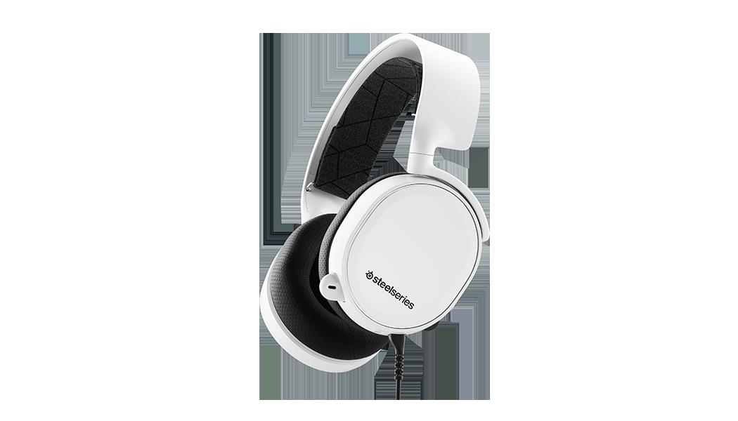 耳機的任一角度輪廓,連接的耳機在收起位置
