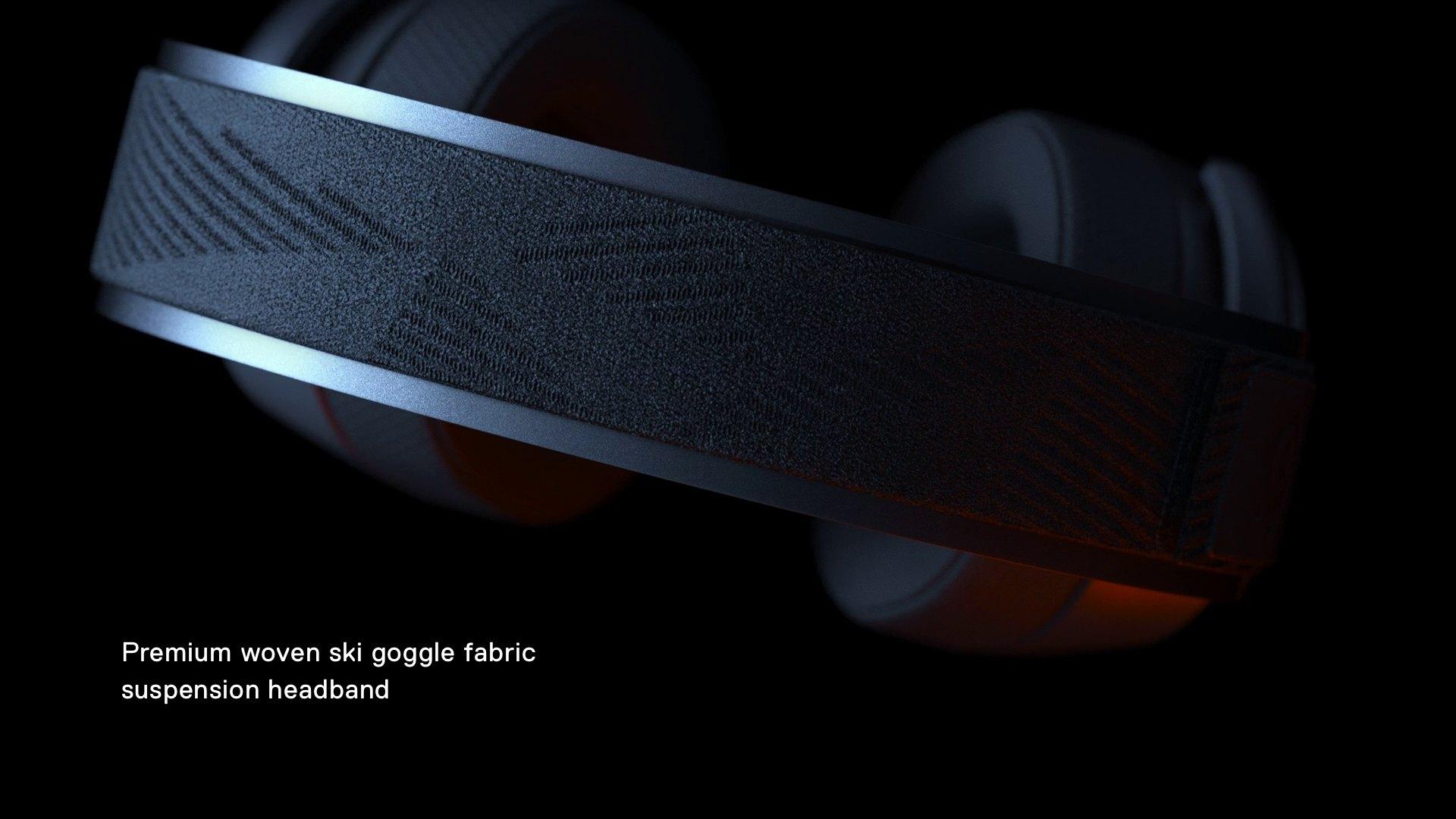 Arctis Pro 上的高級機織滑雪護目鏡頭帶