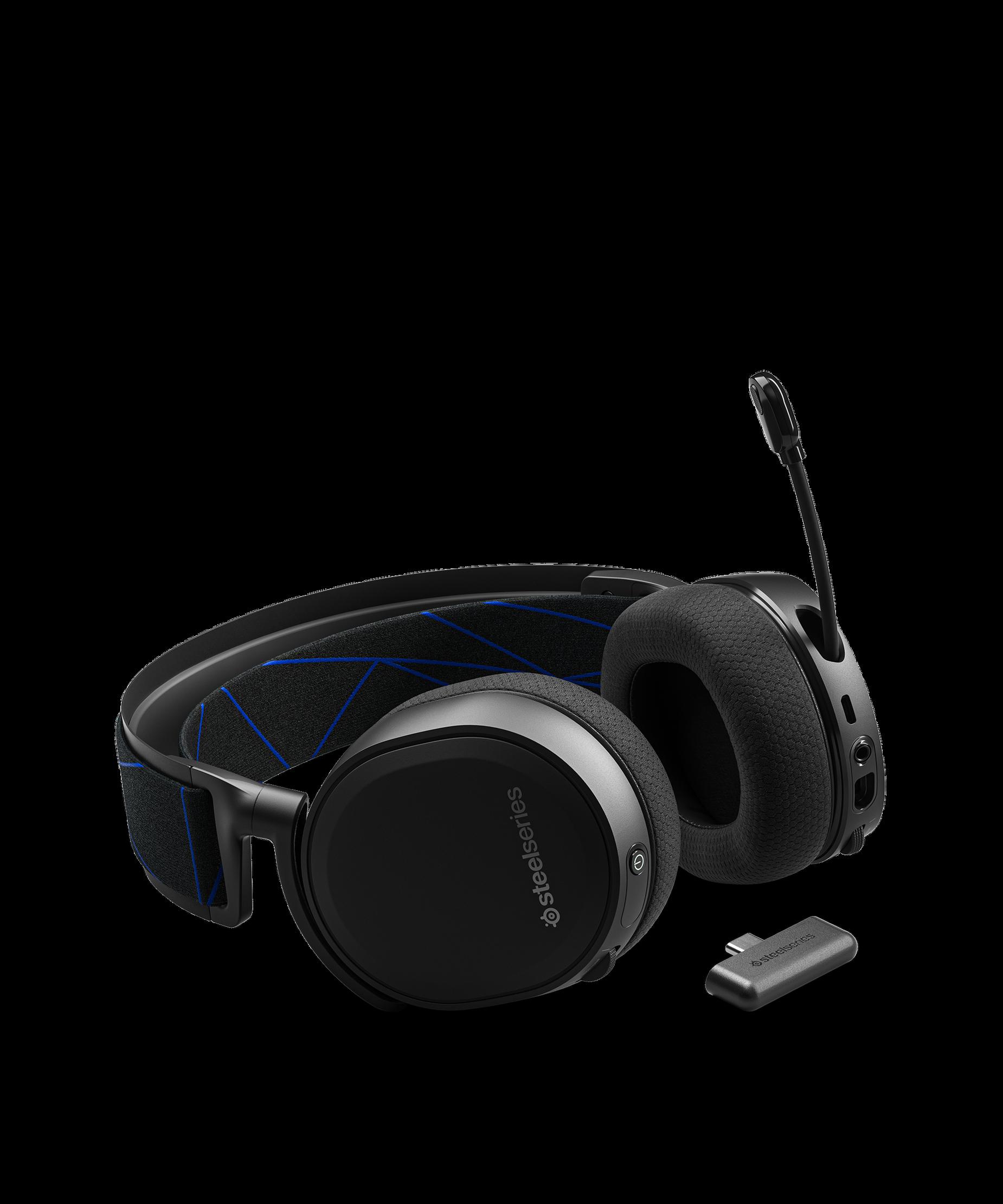 耳機平放且 clearcast 麥克風呈現打開的位置