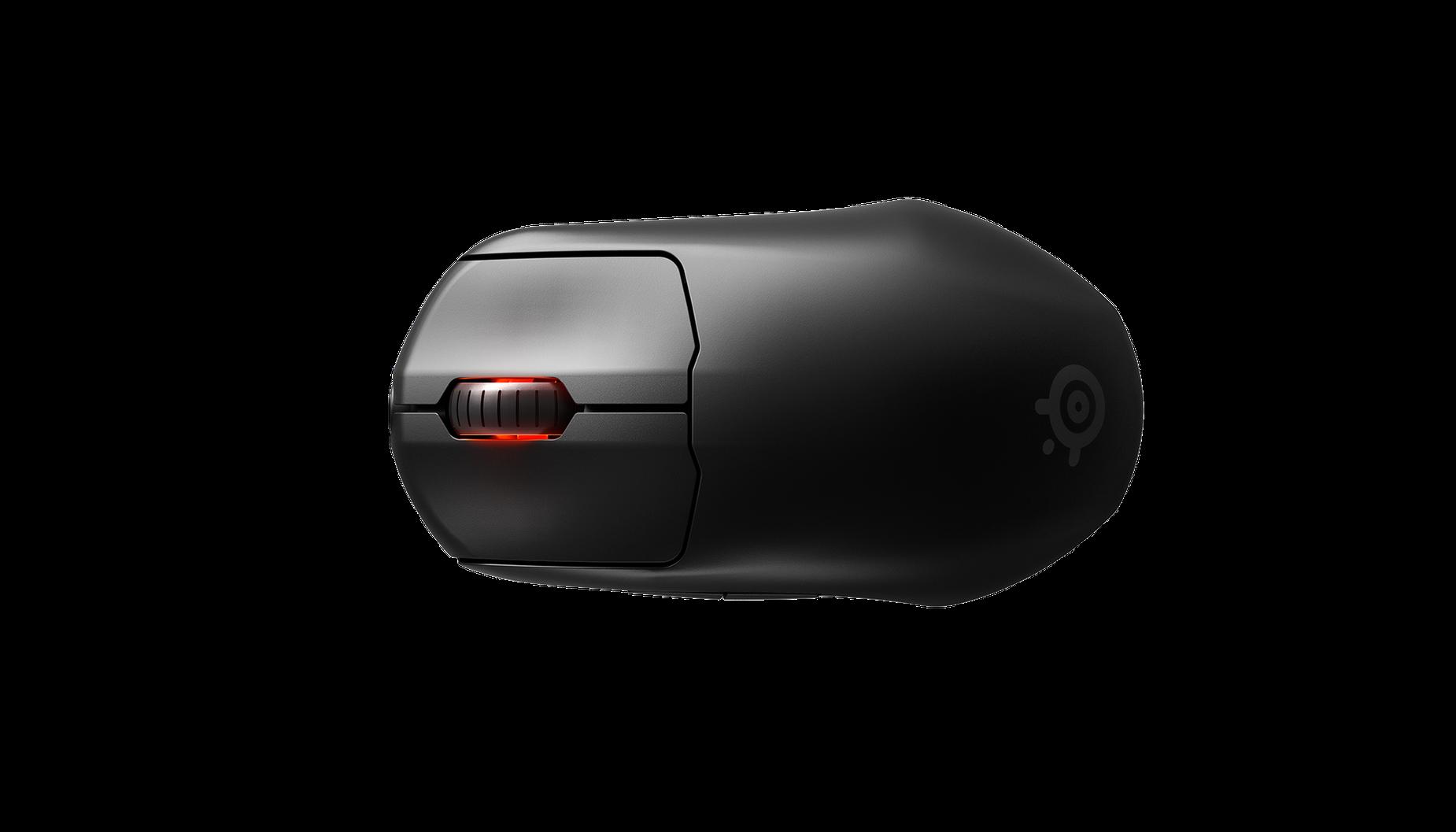 Prime 無線滑鼠的俯視圖。