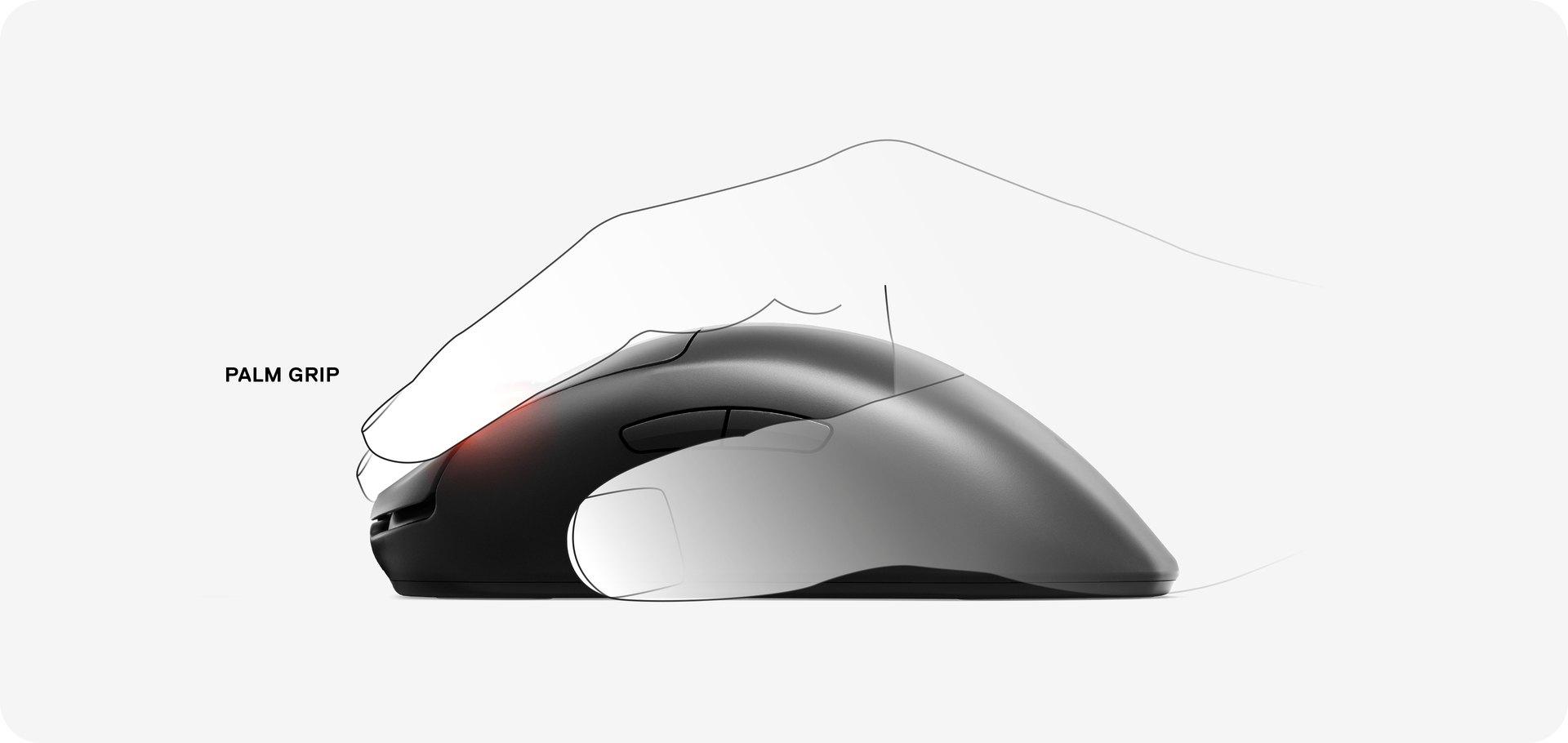 以掌握方式使用 Prime 無線滑鼠的手圖示。