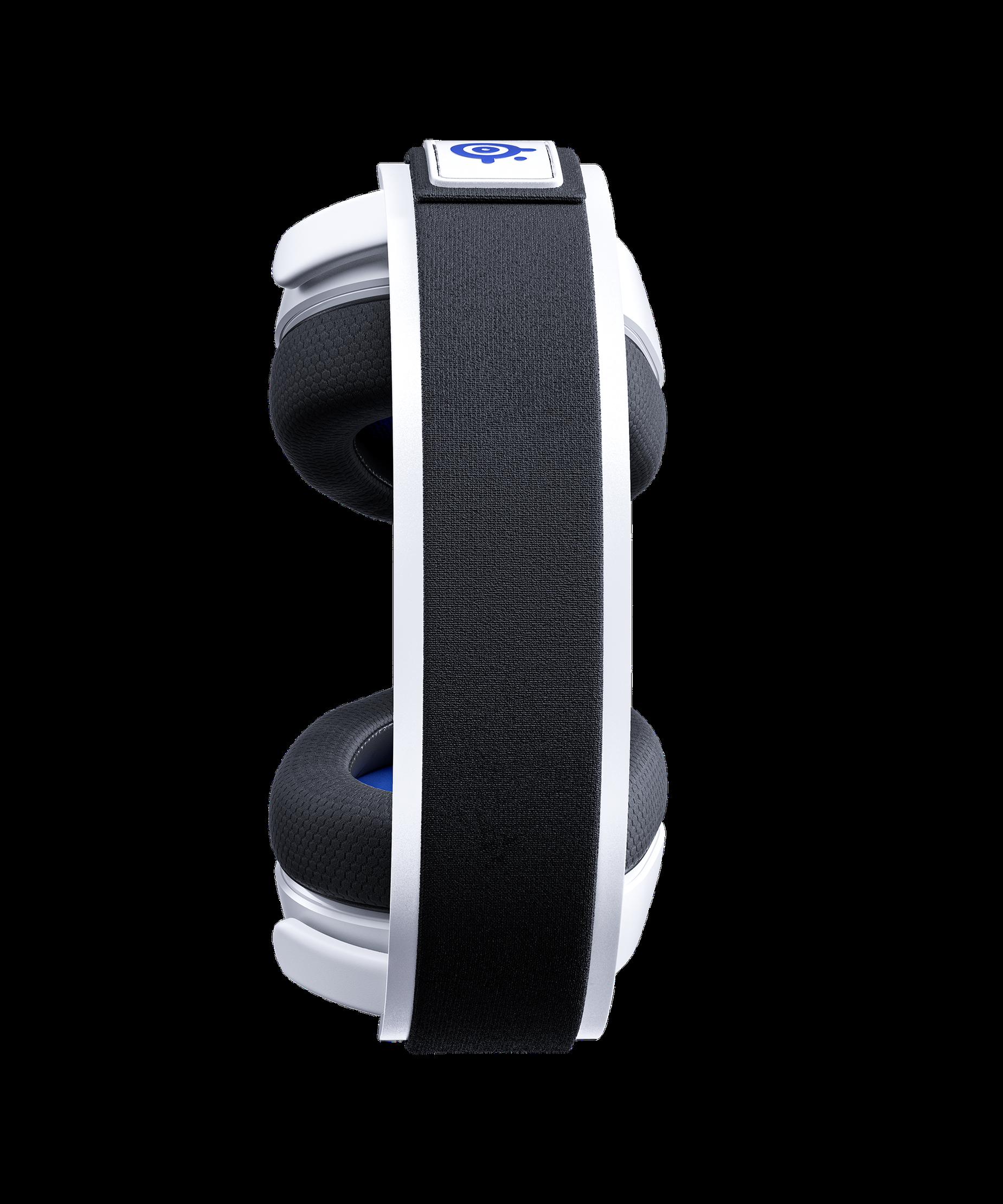 耳機俯視圖,且呈現出滑雪護目鏡頭帶與其設計