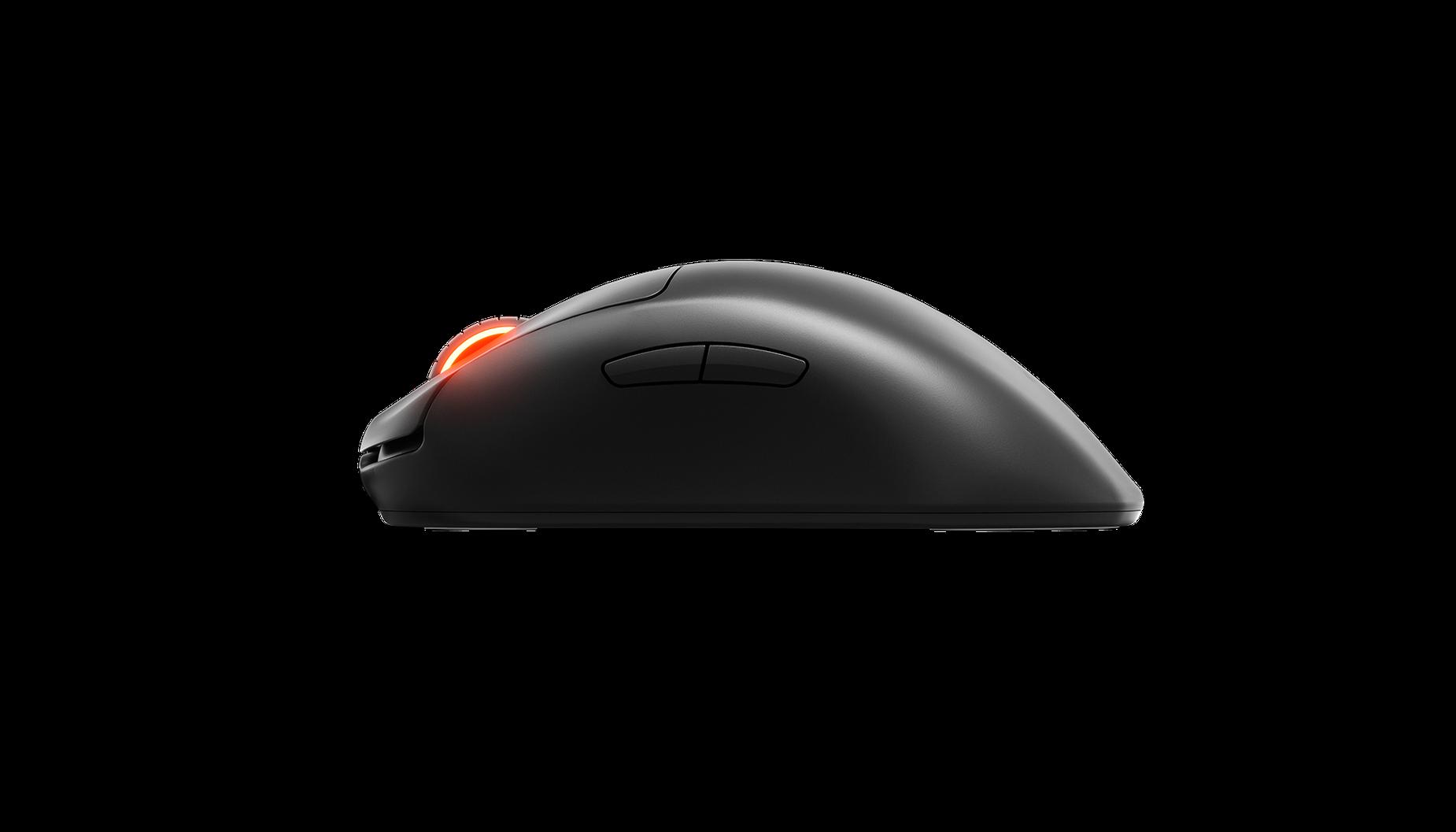 Prime 無線滑鼠的側視圖。