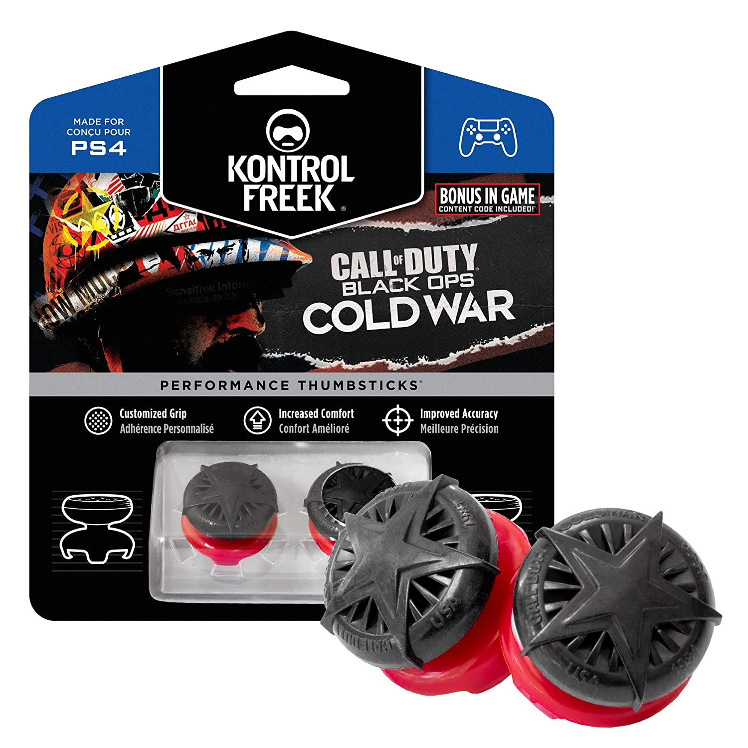 A look at both of the KontrolFreek grips in their packaging.