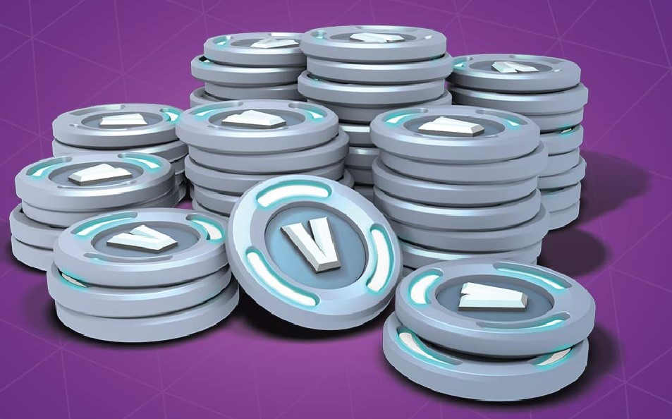 A pile of V-Bucks just waiting for someone to spend them.