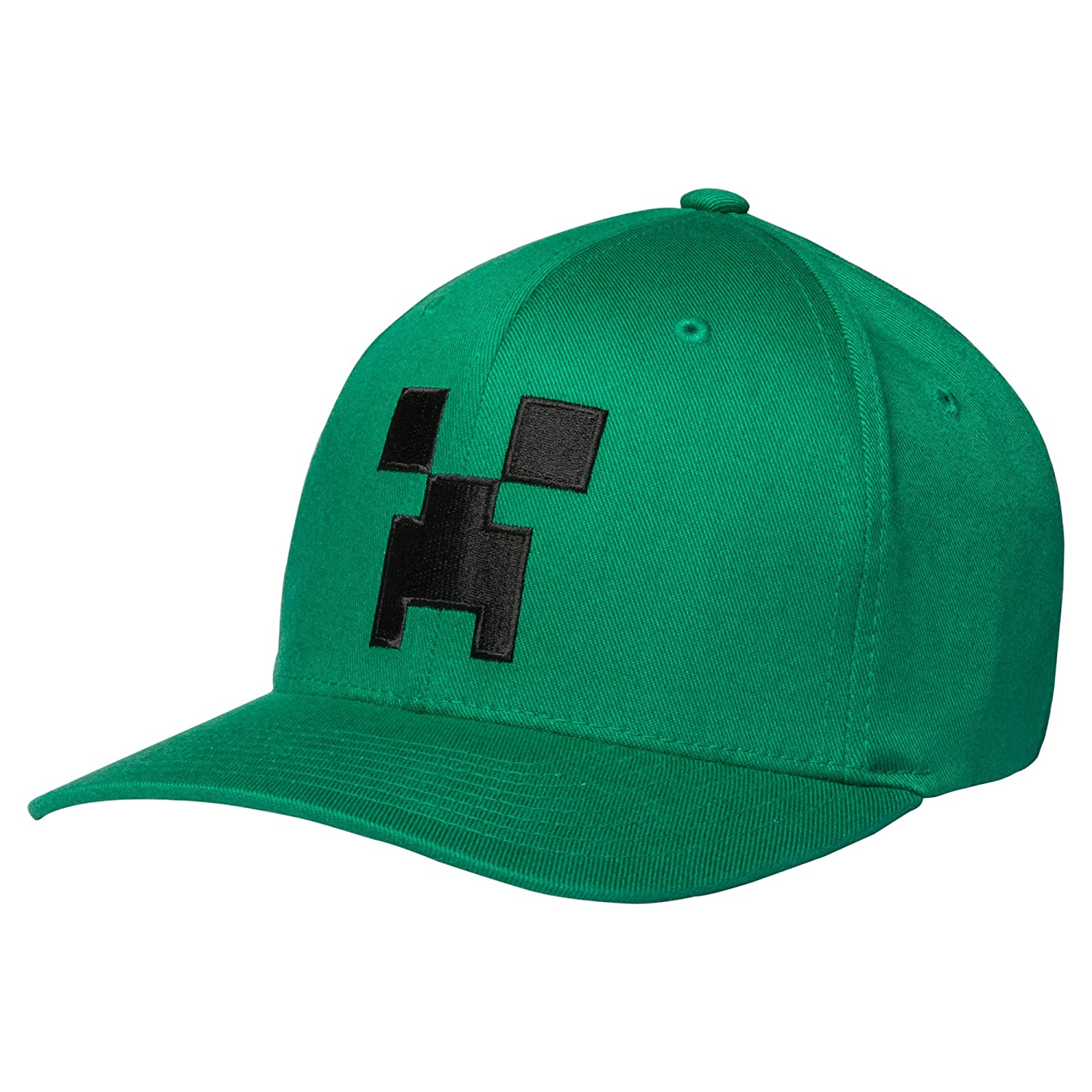 The Creeper Mob hat is bright green with a fun Creeper face on the front.