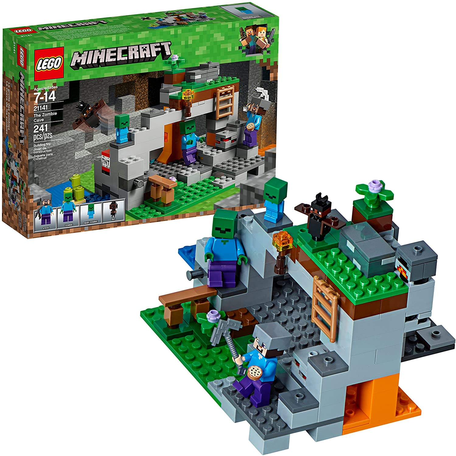 The elaborate Zombie Cave Building kit completed to show off how awesome and detailed it is.