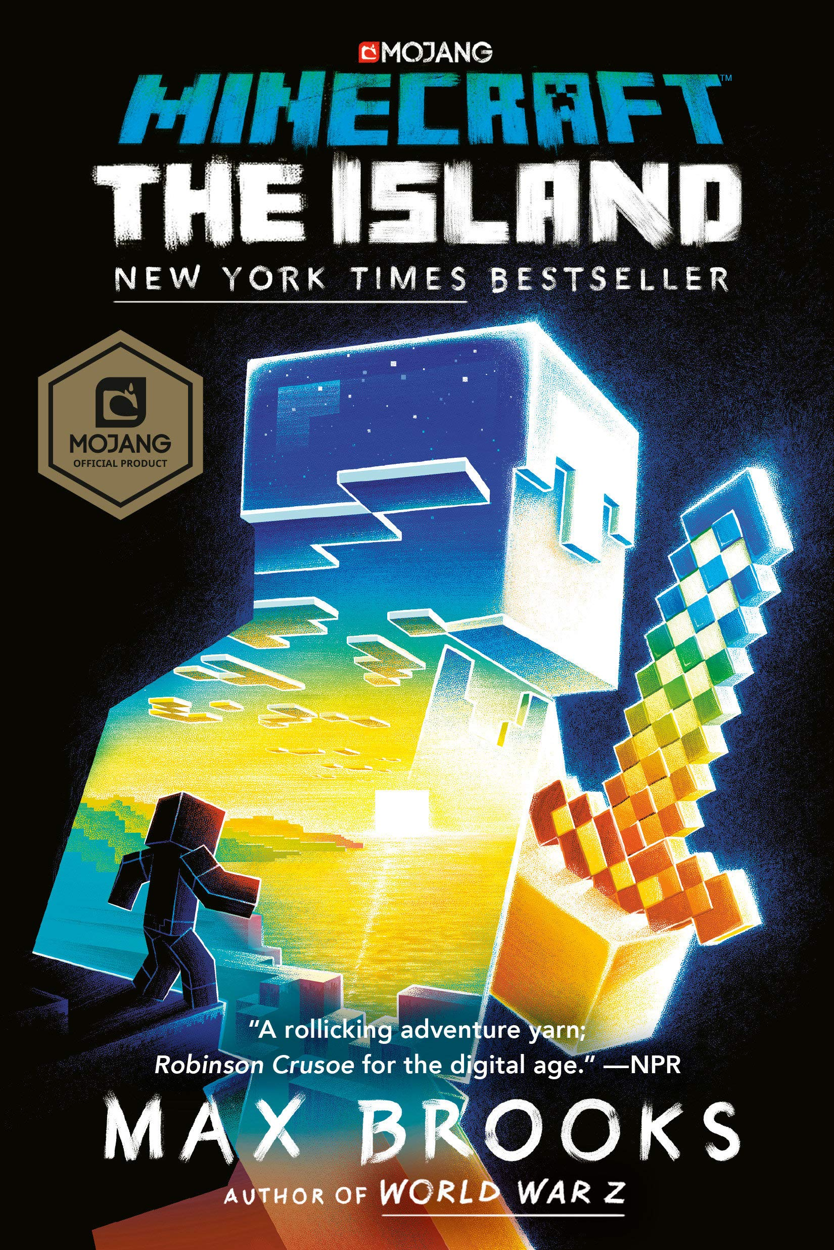 The book cover for Minecraft: The Island: An Official Minecraft Novel.