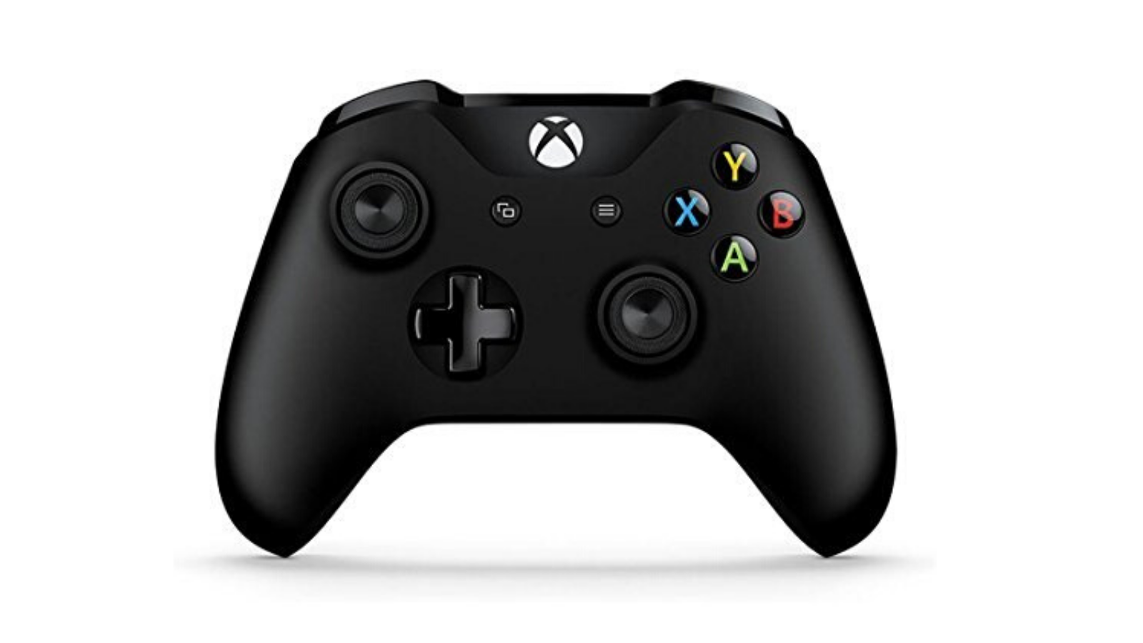 A black Xbox One wireless controller.