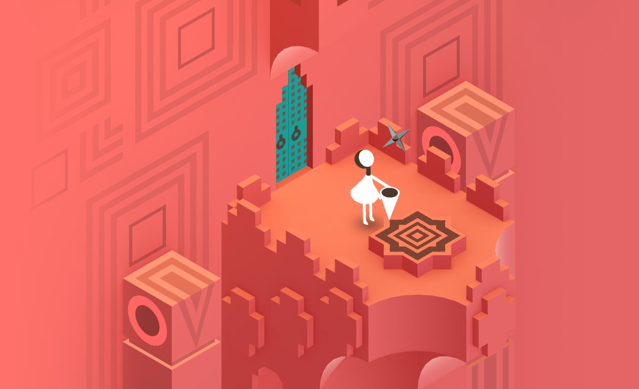A colorful puzzle set within the astounding Monument Valley 2.