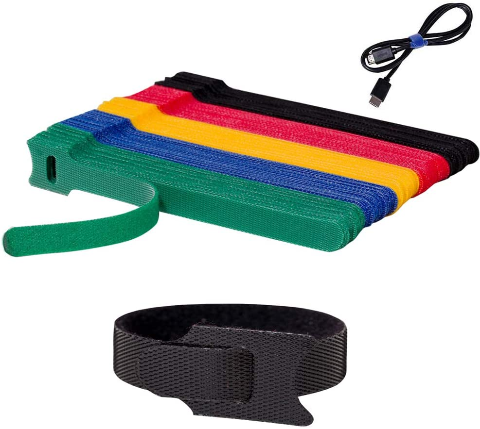 A selection of colorful cable ties.