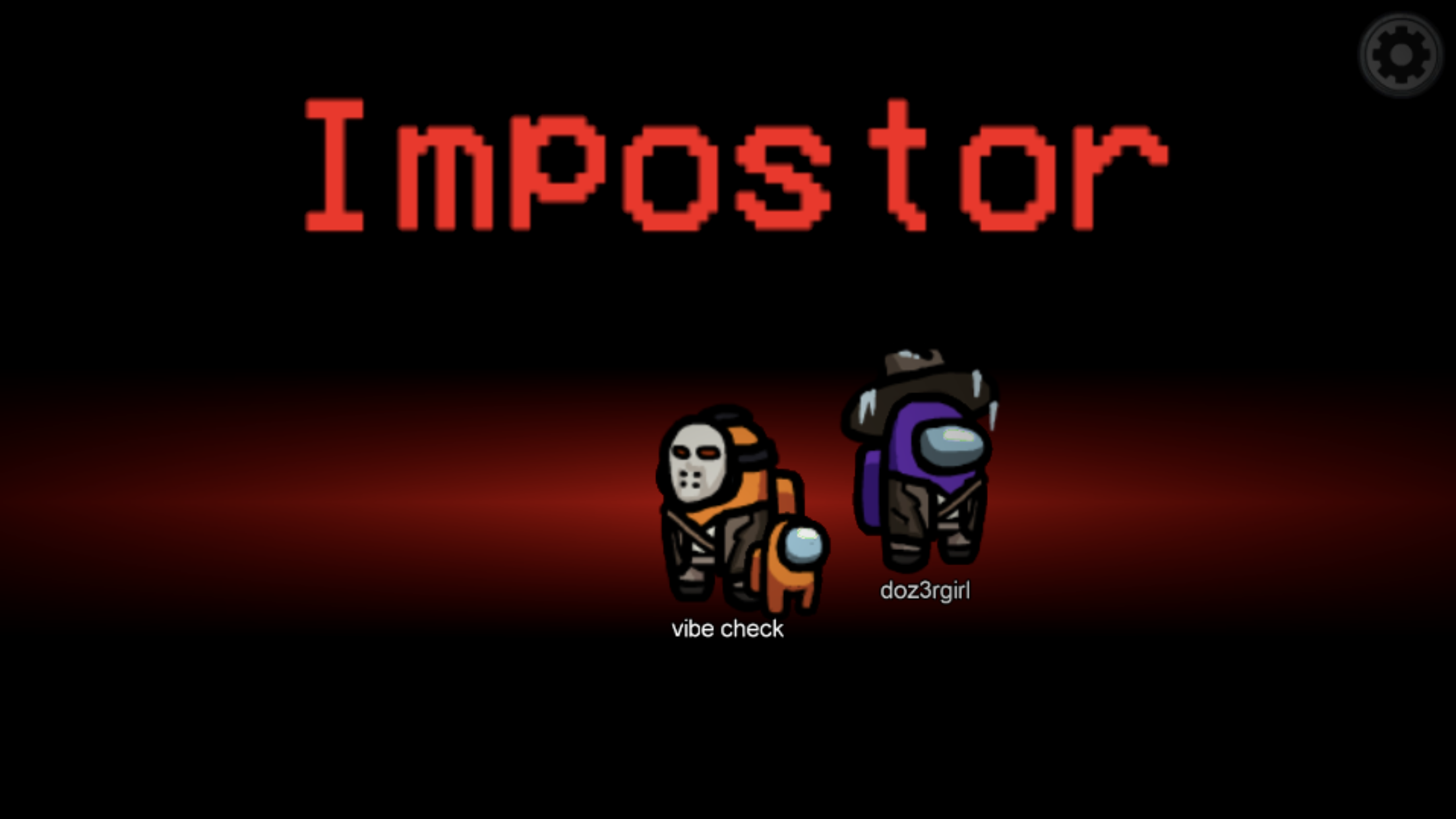 The impostors in a game of Among Us, revealed for the traitors they are.