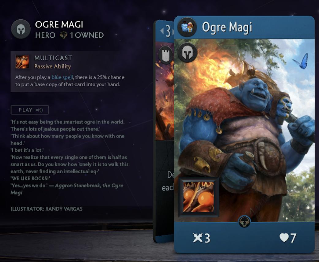 Artifact Ogre Magi card