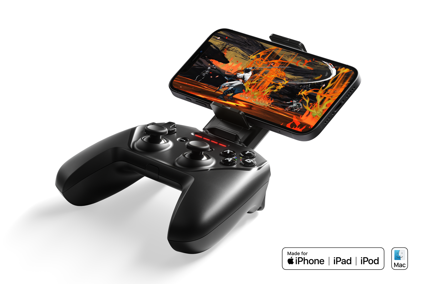 The Nimbus+ in all its mobile controller glory.