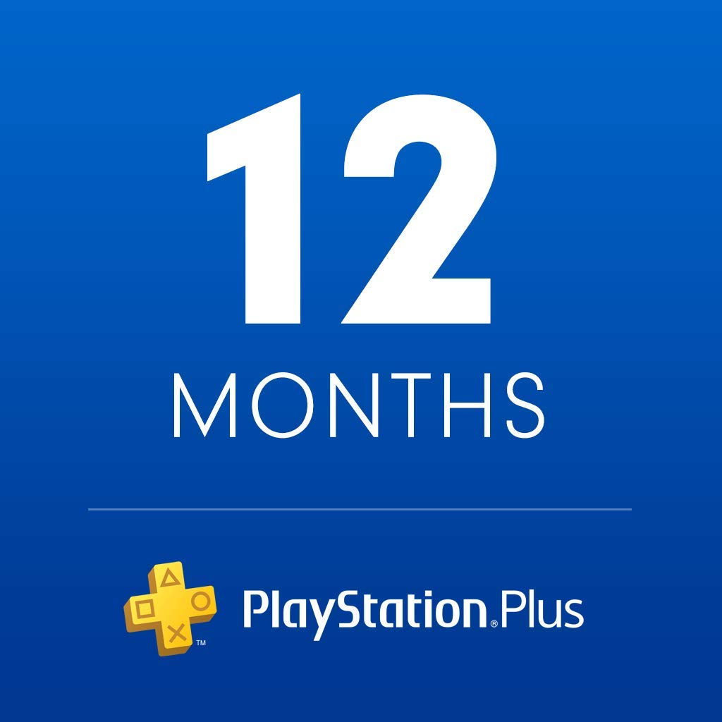 The PlayStation Plus 12 Month membership retail card design.