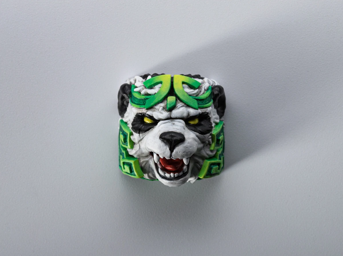 Fnatic logo keycap with panda face