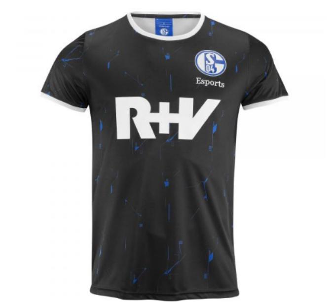"""Schalke 04 special edition jersey reading """"R+V"""""""