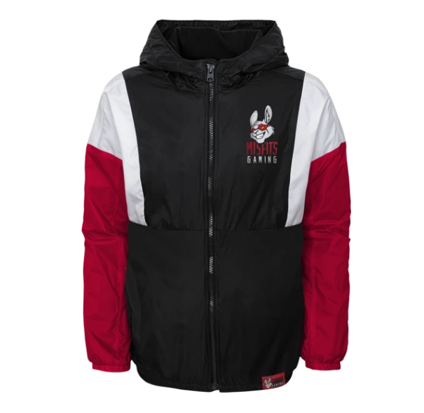 Misfits x Outerstuff windbreaker jacket with Misfits Gaming logo