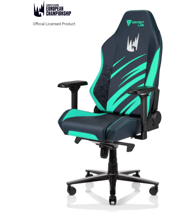 Secretlab LEC special edition chair with LEC logo