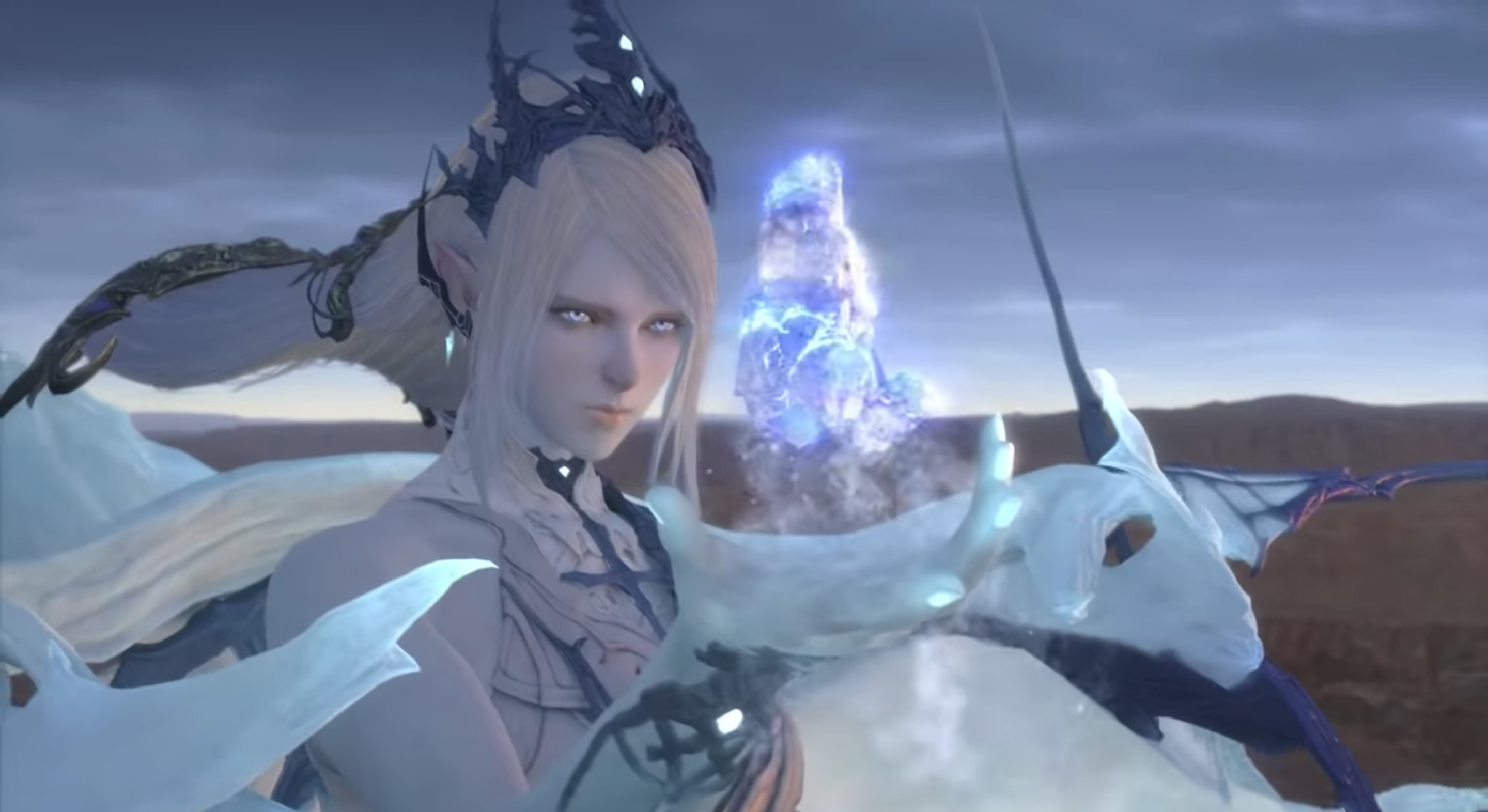 A new vision of the summon Shiva is shown in the Final Fantasy XVI reveal trailer.