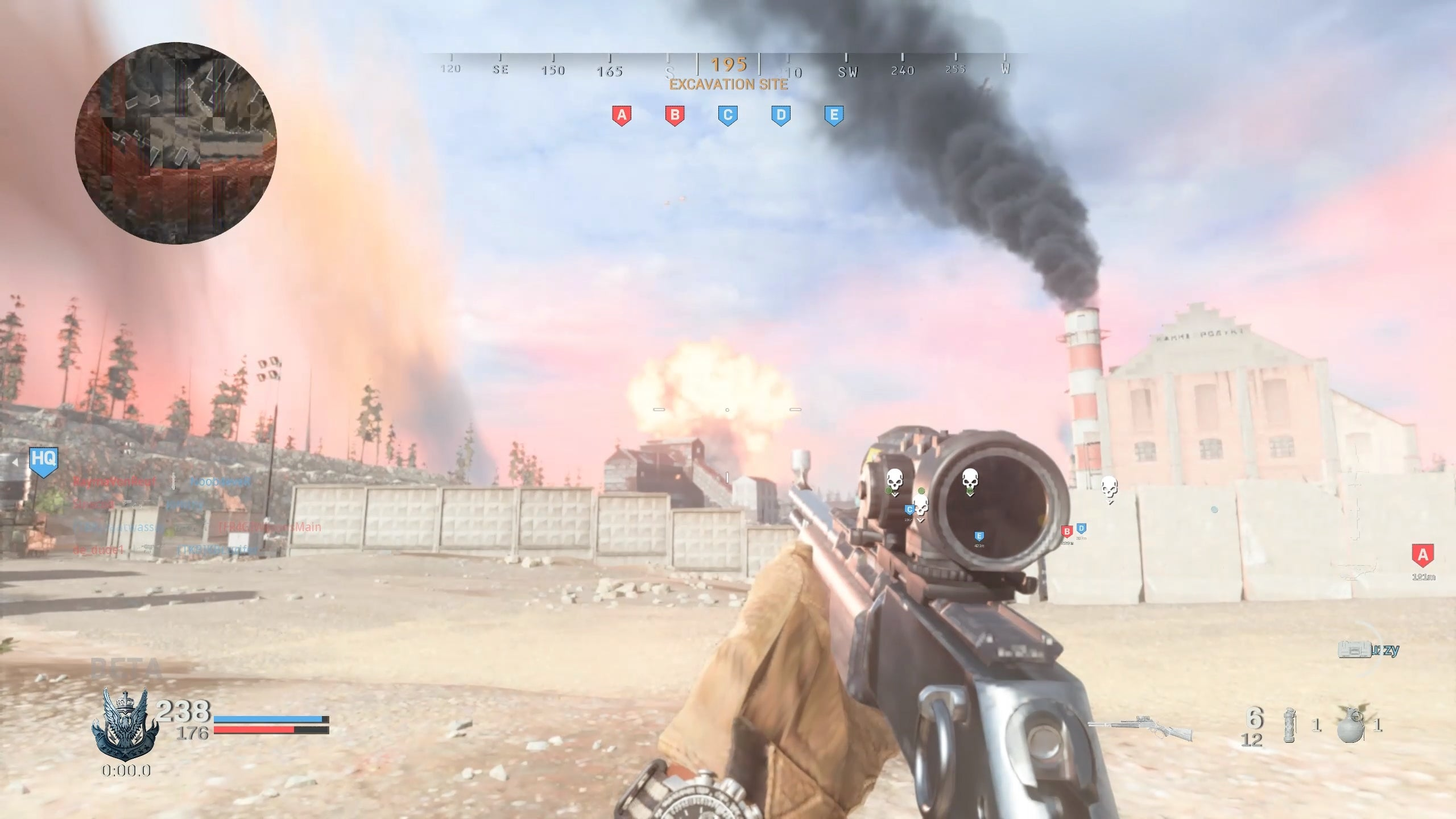 A tactical nuke being dropped on the enemy team in Call of Duty: Modern Warfare.