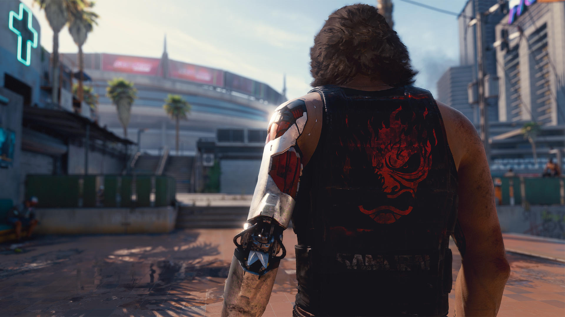 A look at Johnny Silverhand, Keanu Reeves' character in Cyberpunk 2077.