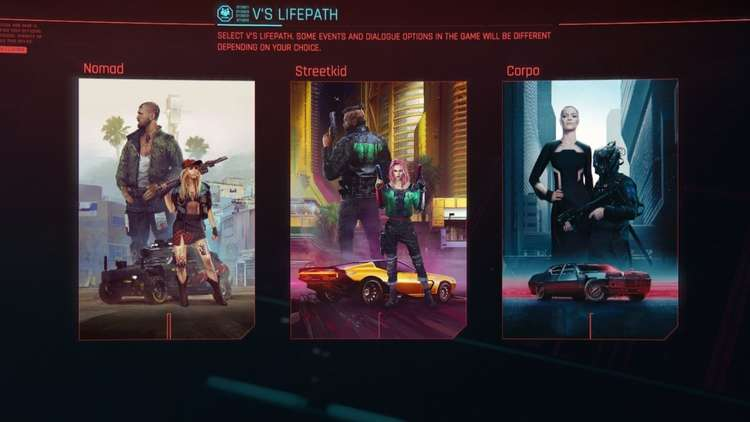 A look at the three Life Paths in Cyberpunk 2077.