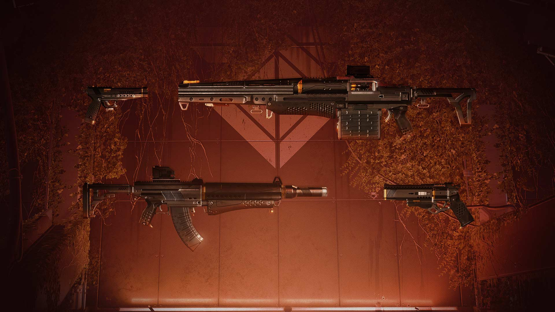 Bungie's art for of 3 guns from the new season of Destiny 2