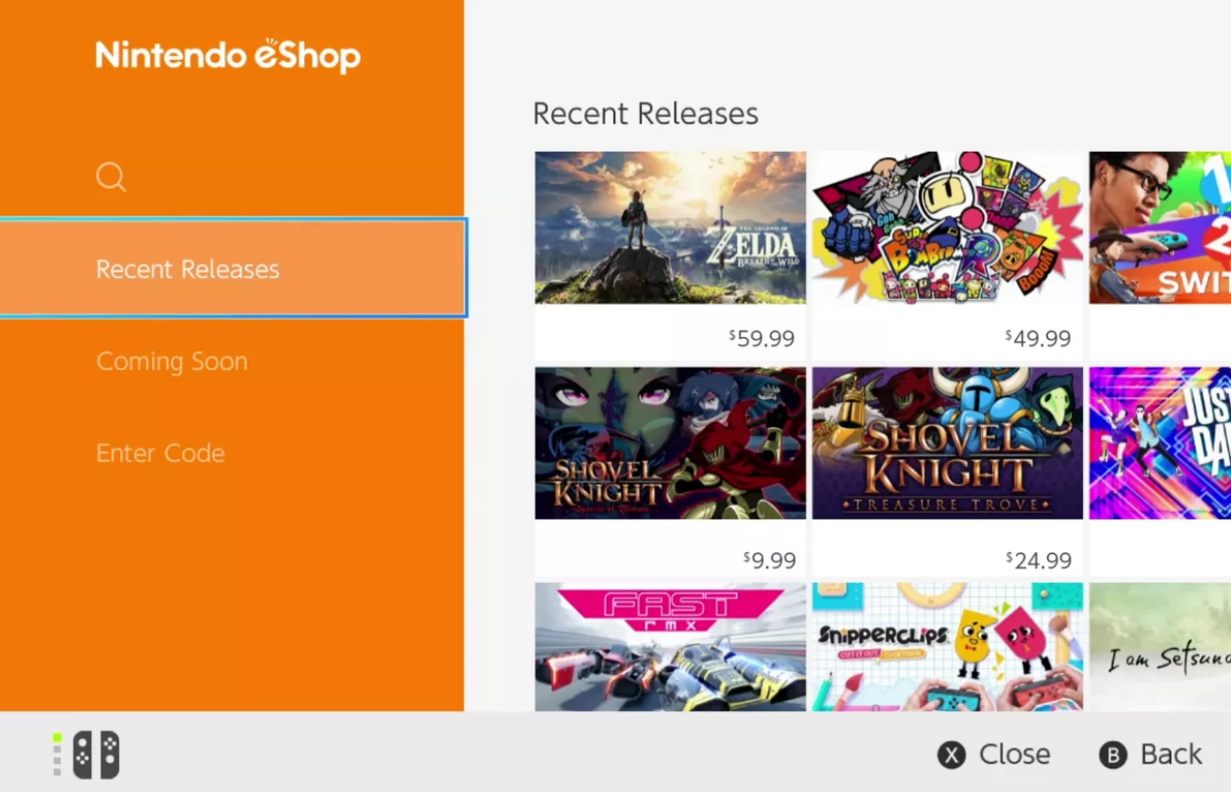 A look at the Nintendo Switch eShop.