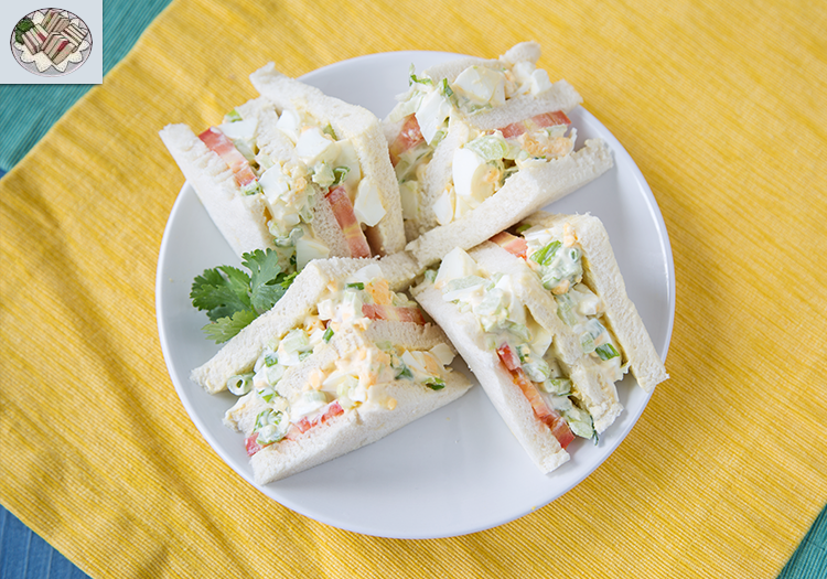 """A quartered egg salad sandwich, as well as the in-game egg salad sandwich art from """"Tales of Vesperia"""""""