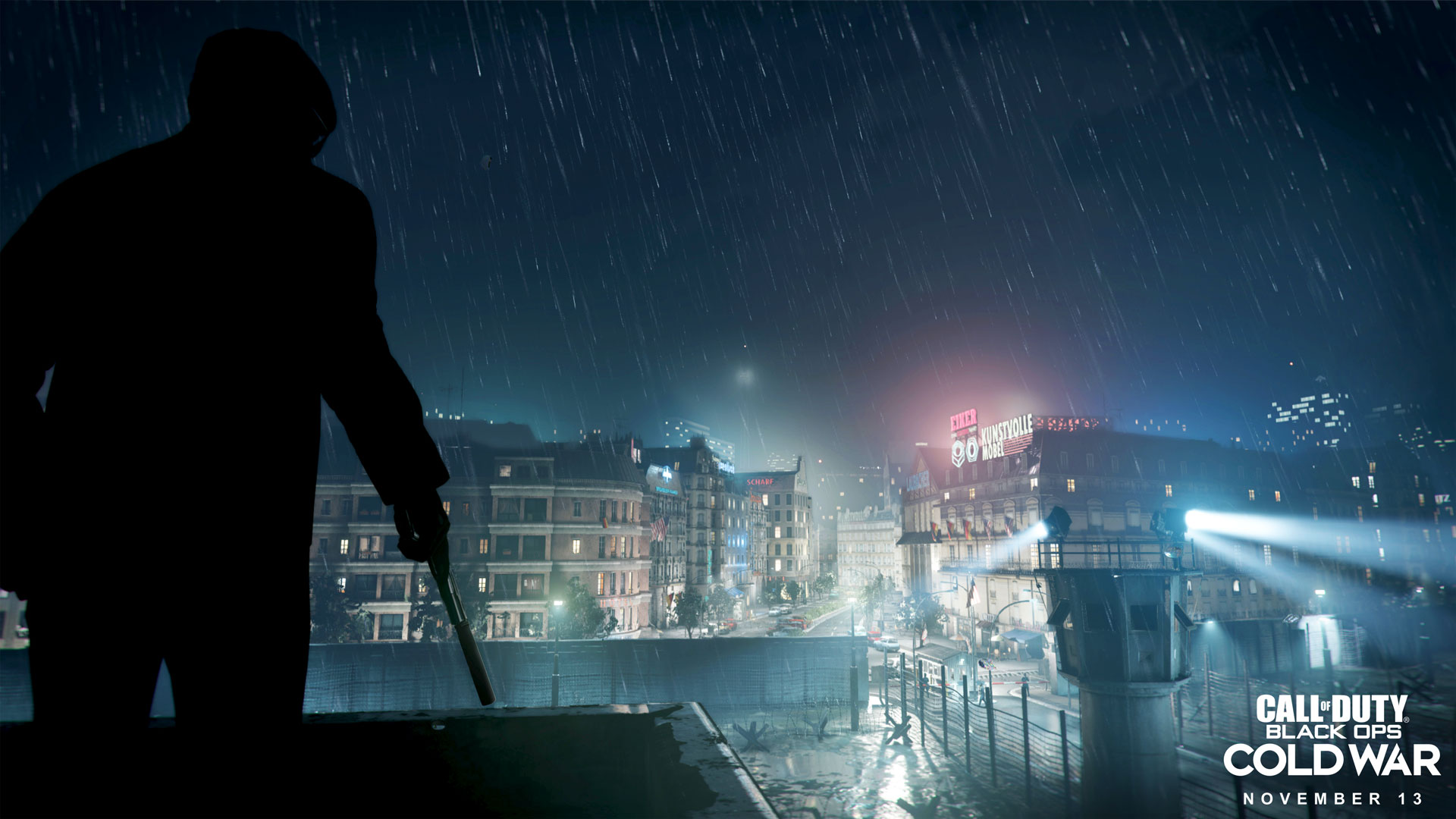 A soldier overlooks the city in Call of Duty: Black Ops Cold War