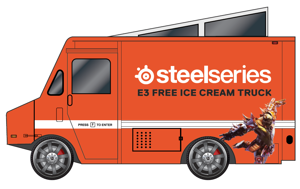 SteelSeries ice cream truck