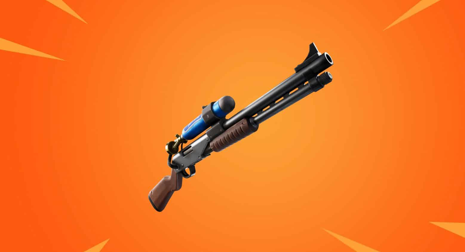 A close-up shot of the Charge Shotgun, locked and loaded.