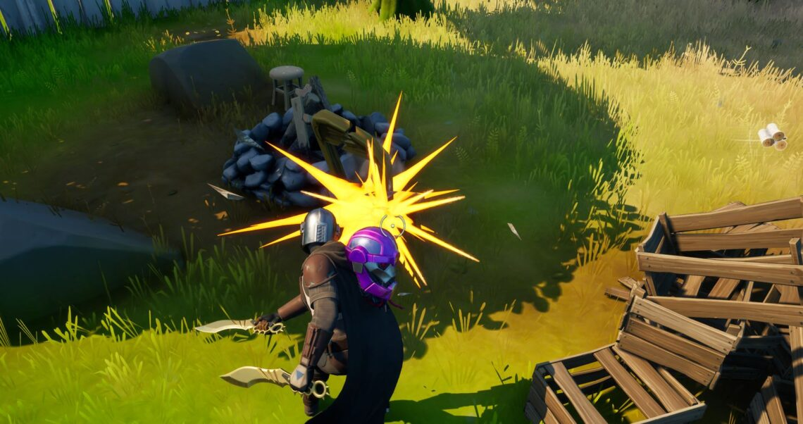 Players completing some melee kills in Fortnite.
