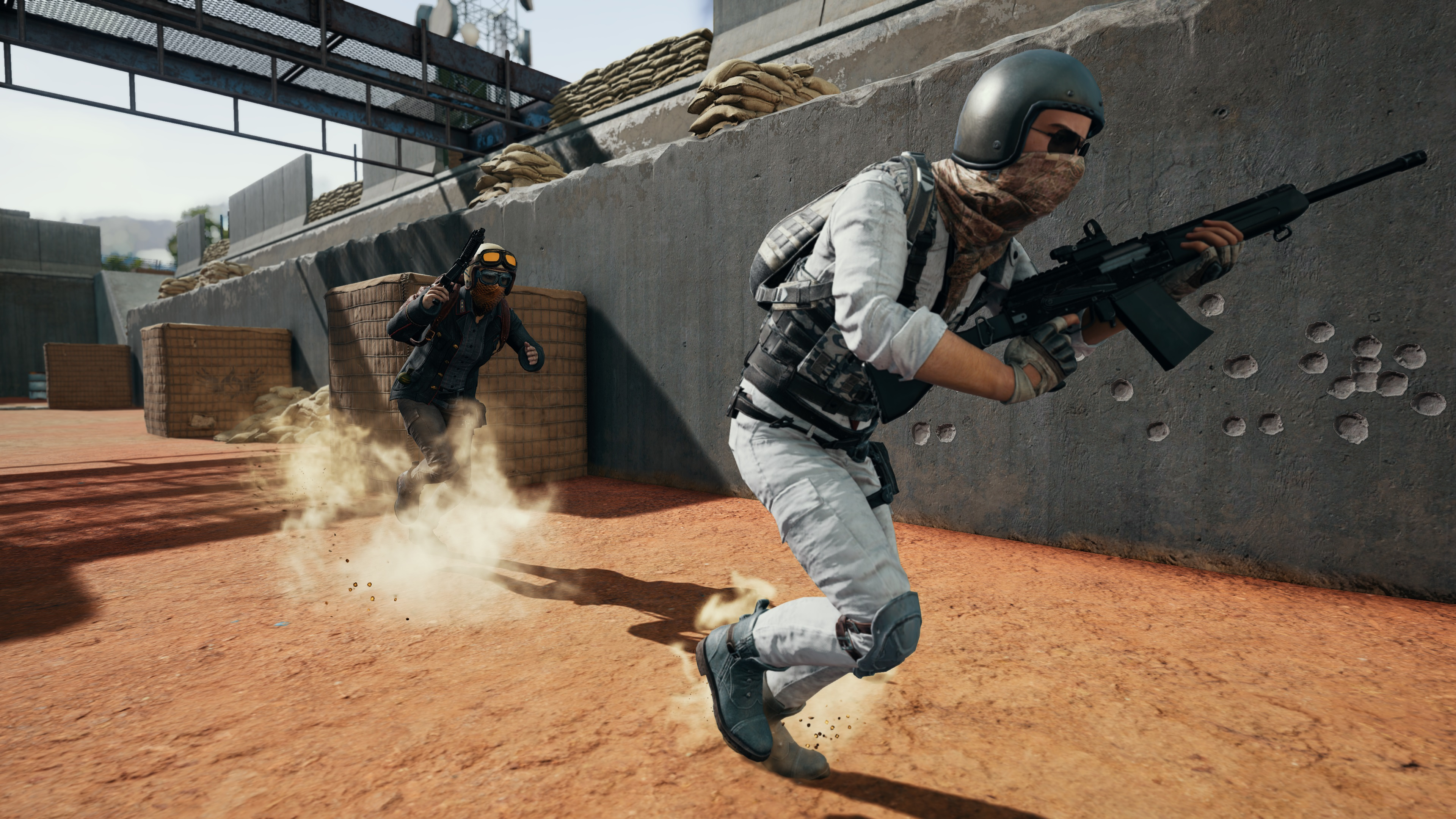 A player dashes to safety in PlayerUnknown's Battlegrounds.