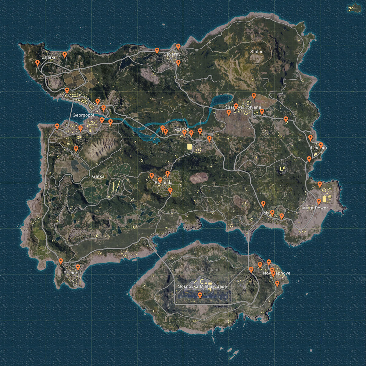 PUBG vehicle spawns