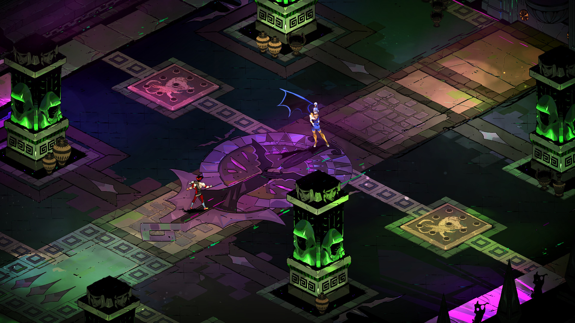 Zagreus faces off against one of the many enemies stationed throughout Hades.