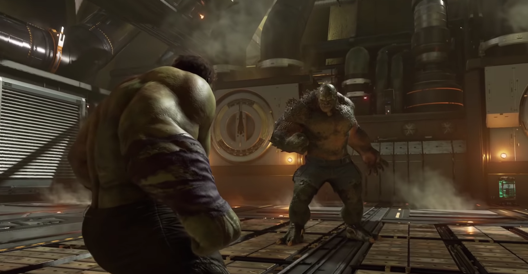 Hulk and Abomination square off against each other.