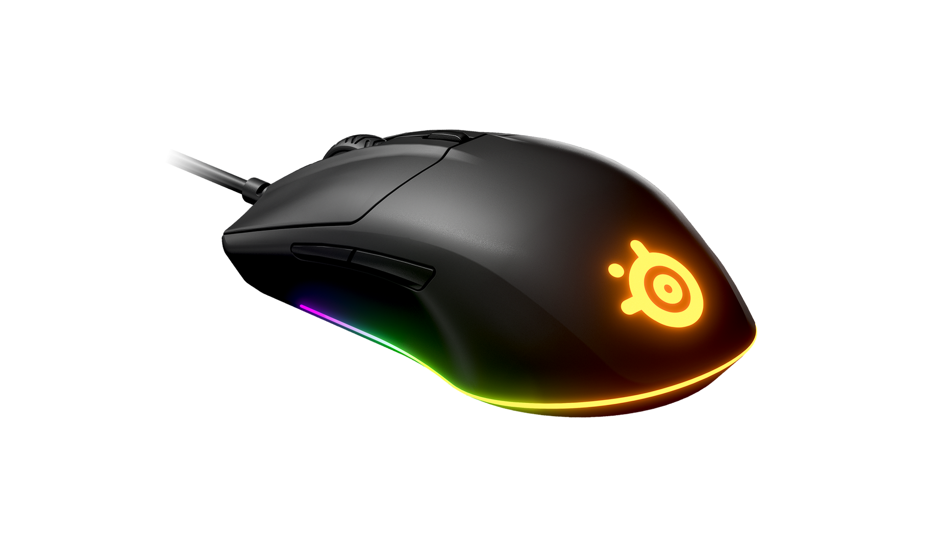 SteelSeries Rival 3 mouse floating in space
