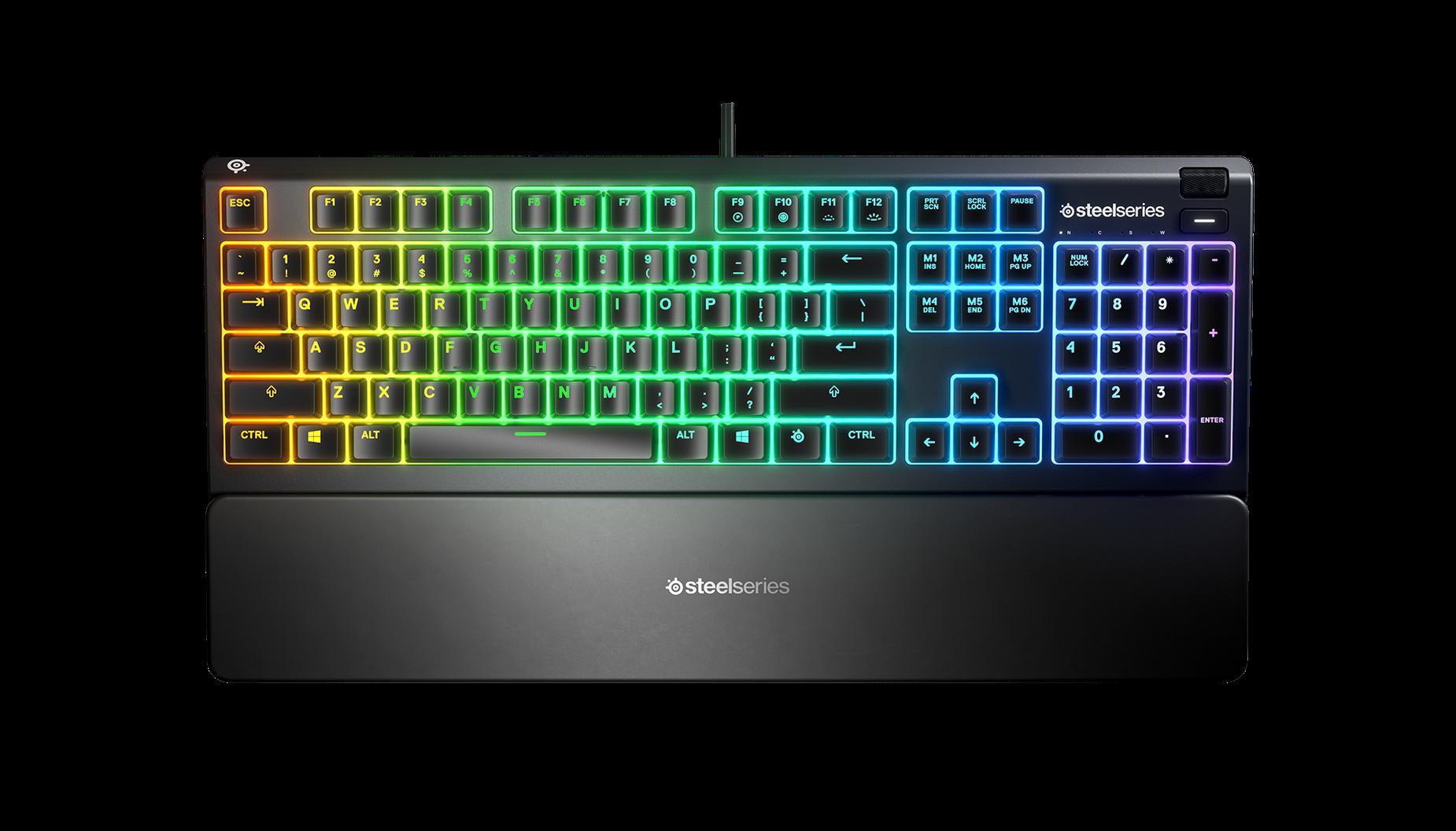 Apex 3 RGB keyboard floating in space