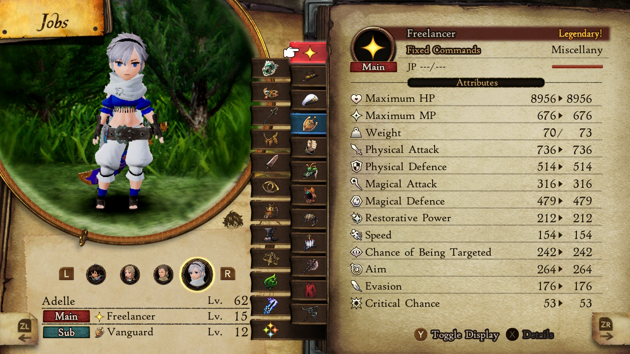 A look at one of the job classes you can use in Bravely Default 2.