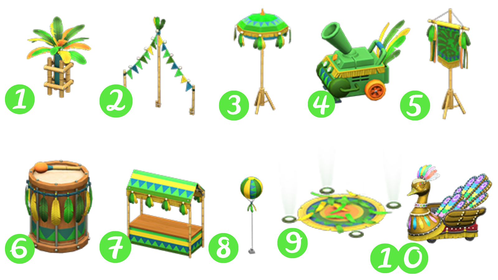A listing of all the Festivale goodies you can get during the event.