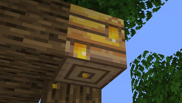 A jar of honey in Minecraft.