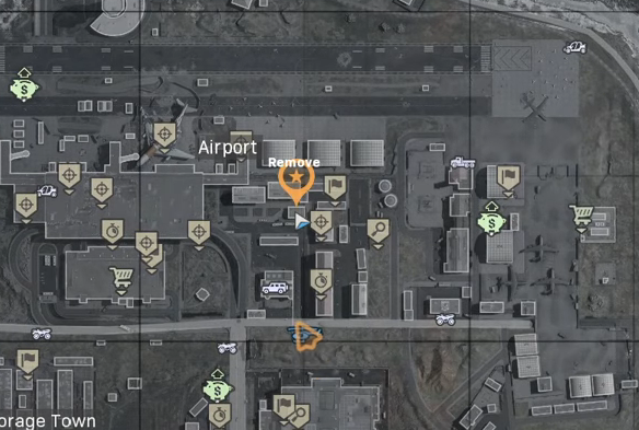 Warzone map with Metro station marked near the airport