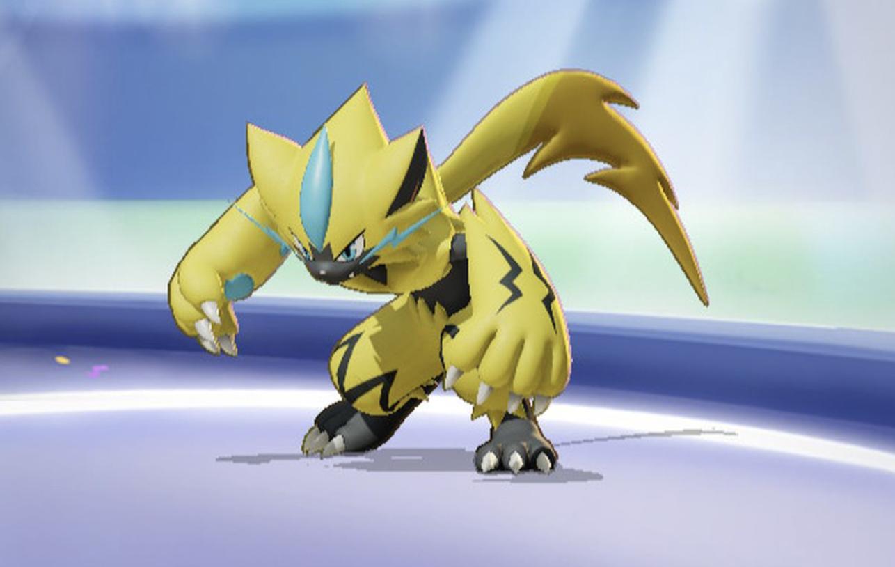 A look at Zeraora how it appears in Pokemon Unite.