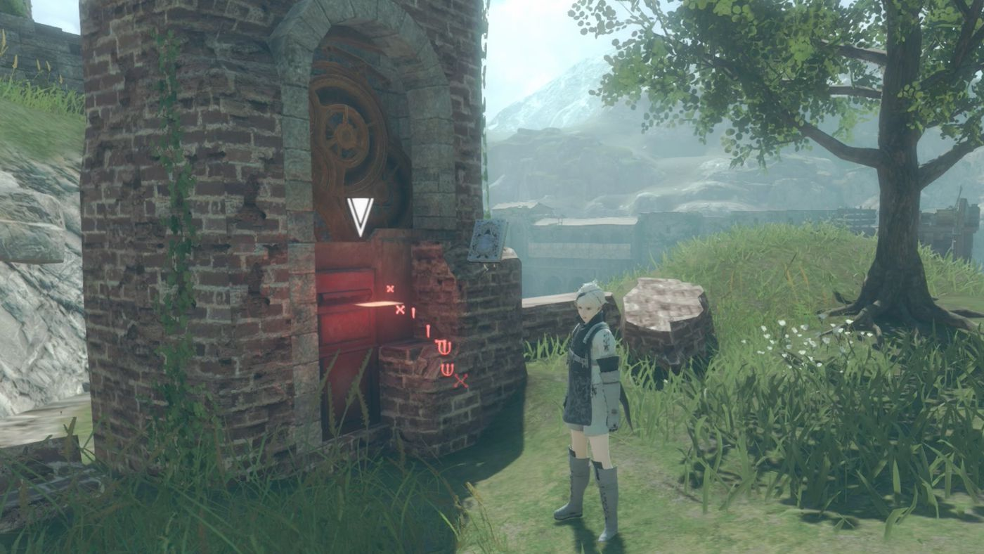 A look at one of the Post Boxes in NieR Replicant, which you can use to save your game.