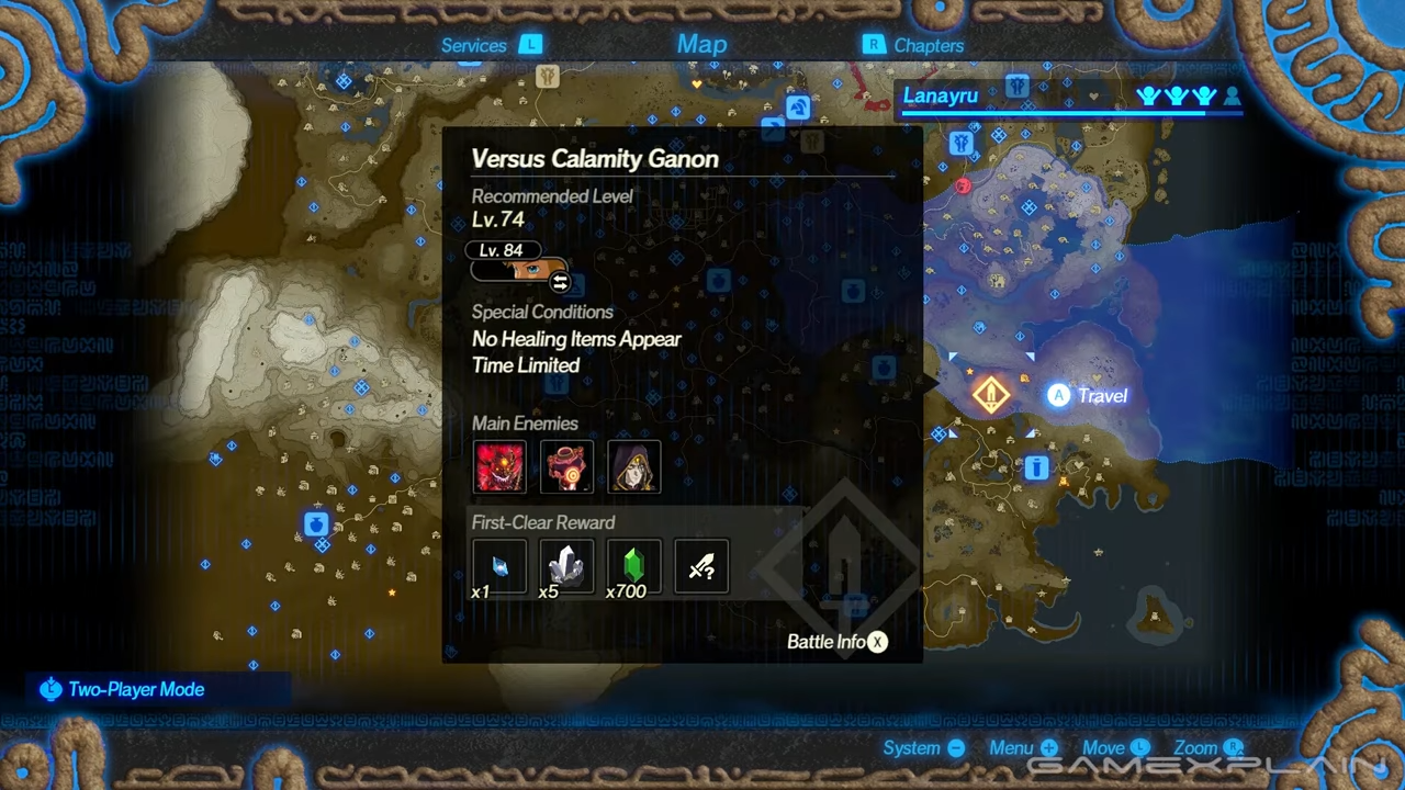 A look at exactly where you can find the Calamity Ganon mission.