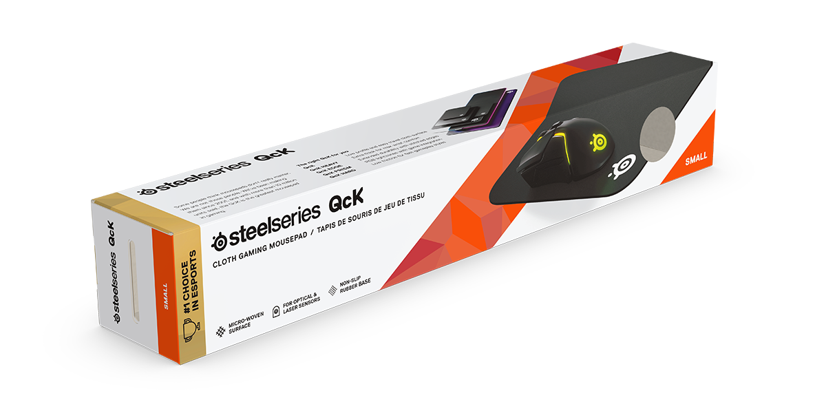SteelSeries QcK box packaging