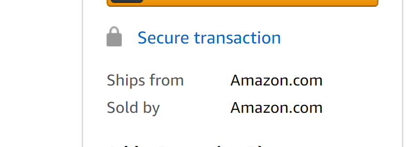 """Ships from Amazon"" and ""Sold by Amazon"" page on Amazon"